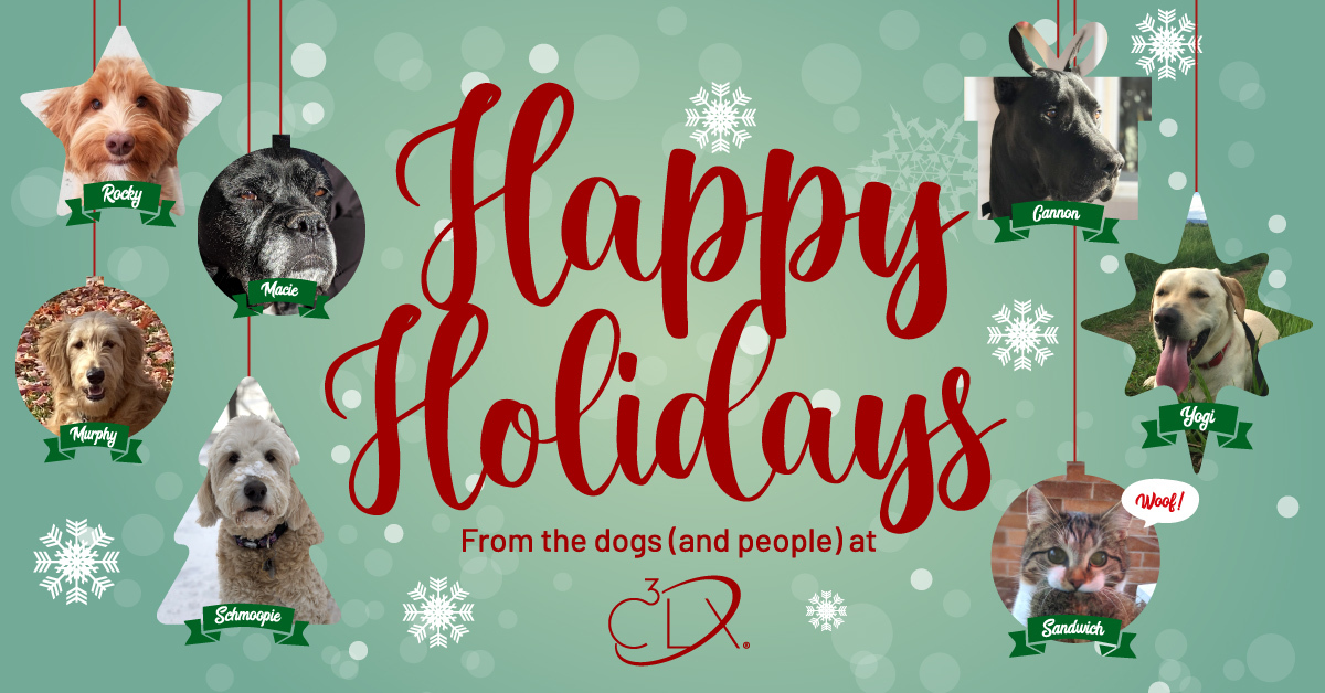 Happy Holidays from the dogs (and people) at C3LX
